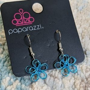 Blue Flower Design Earrings